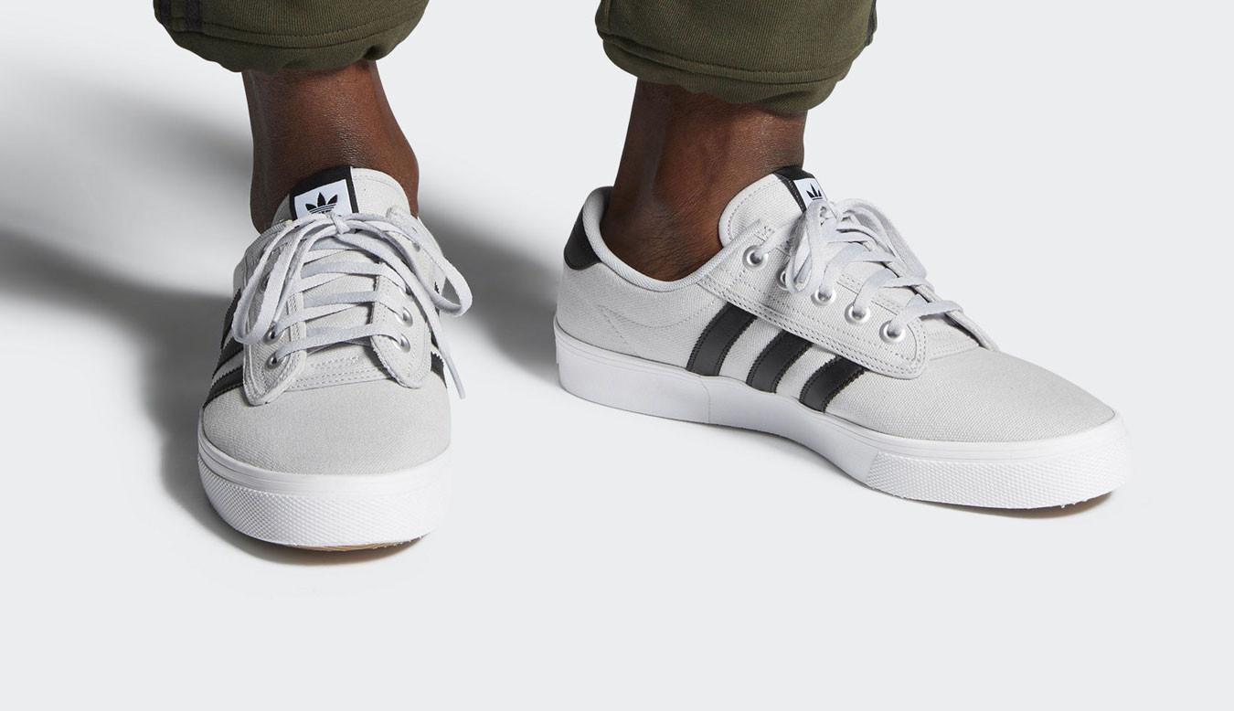 ADIDAS Kiel (canvas) chaussures blanches et vertes