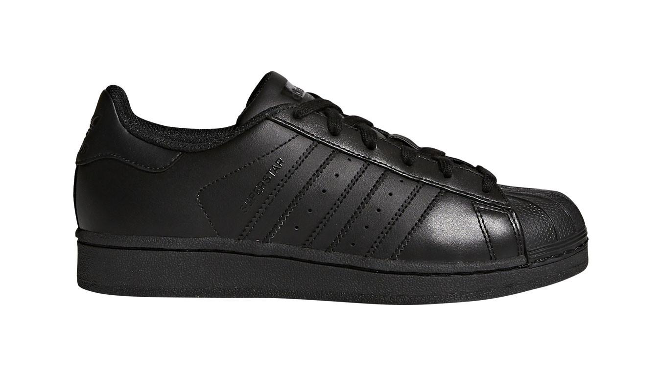 adidas superstar black mono