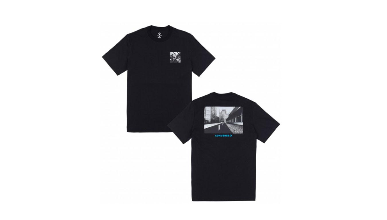 t shirt converse noir