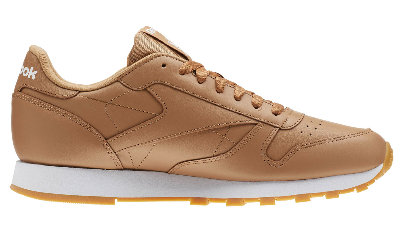 Marron sneakers Reebok Classic Leather Soft Camel - 50€ | CN5768