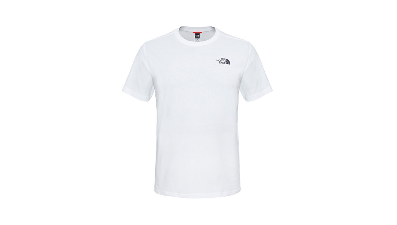 bad1393008 The North Face M S/S Red Box Tee Tnf White T92TX2FN4